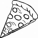 Pizza Coloring Pages Colouring Colour Printable Adults sketch template