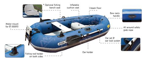 Aqua Marina Classic Advanced Fishing Boat With Electric Motor T18 Std by Aqua Marina Professional Lightweight Inflatable Fishing
