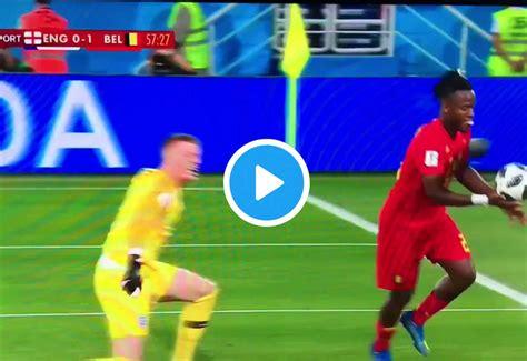 video batshuayi kicks  ball   post
