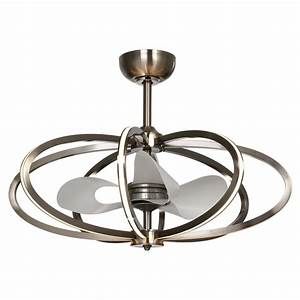 Maxim Lighting Fandelier Polished Chrome LED Ceiling Fan