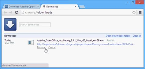 How To Resume File Download In Chrome