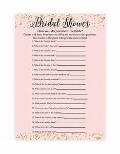 Free printable bridal shower games how well do you know for Templates for bridal shower games