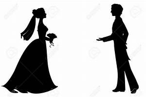 94+ Vintage Bride And Groom Silhouette - Running Bride ...