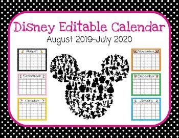 disney themed editable calendar aug july rachel evans