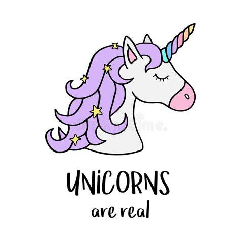 gli unicorni sono reali testa del s dell unicorno con il corno dell arcobaleno illustrazione