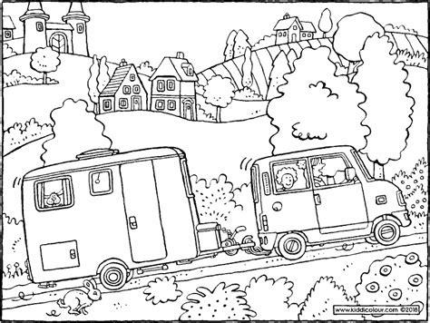 Caravan Kleurplaat by Kleurplaten Voor Kinderen 7 Tot 9 Jaar Kiddi De
