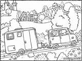 Caravan Colouring Drawing Template Coloring Pages Sketch sketch template