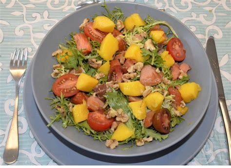 cuisine erable salade de mangue et saumon fumé ma cuisine santé