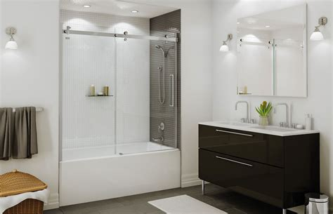 Tub Shower Doors by Halo Sliding Tub Door Maax For Second Floor Tub Shower