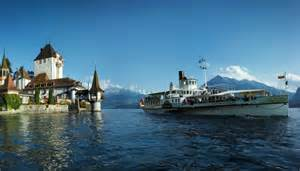 Cruise Boat On Lake Thun