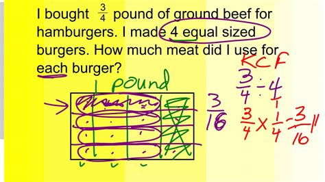 Learn how to use multiplication and division in word problems.we hope you are enjoying this video! Multiplication and Division Fraction Word Problem (2) - YouTube