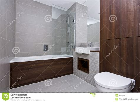Modern Three Piece Bathroom Suite Stock Image