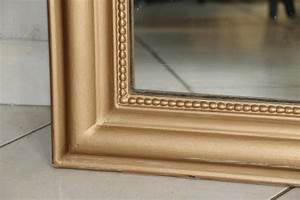 Miroir Doré Rectangulaire : grand miroir ancien dor d 39 occasion ~ Teatrodelosmanantiales.com Idées de Décoration