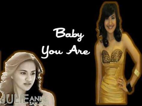 baby you are julie anne san jose ukulele chords julie anne san jose baby you are lyrics youtube