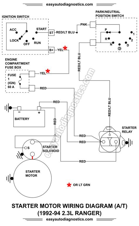 1989 Ford Ranger Starter Wiring Diagram by Part 1 1992 1994 2 3l Ford Ranger Starter Motor Circuit