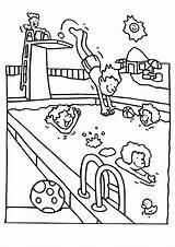 Swimming Coloring Pool Coloriage Ausmalbilder Kinder Piscine Sheets Colouring Pools Sheet Beau Schwimmen Malvorlagen Schwimmbad Drawing Zum Ausmalen Sports Ausmalbild sketch template