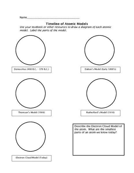 Atomic Timeline Worksheet Worksheets Releaseboard Free Printable Worksheets And Activities