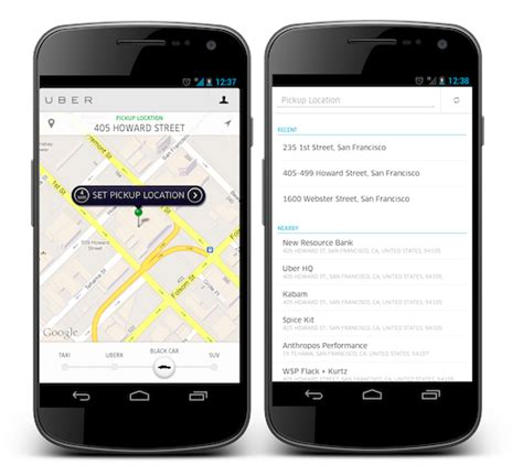 what does android uber now available for blackberry windows phone plus