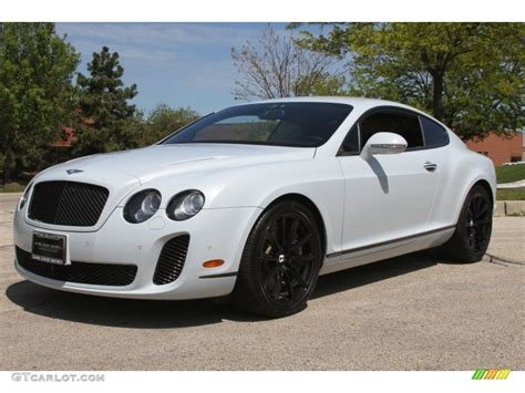 white bentley 2010 ice white bentley continental gt supersports
