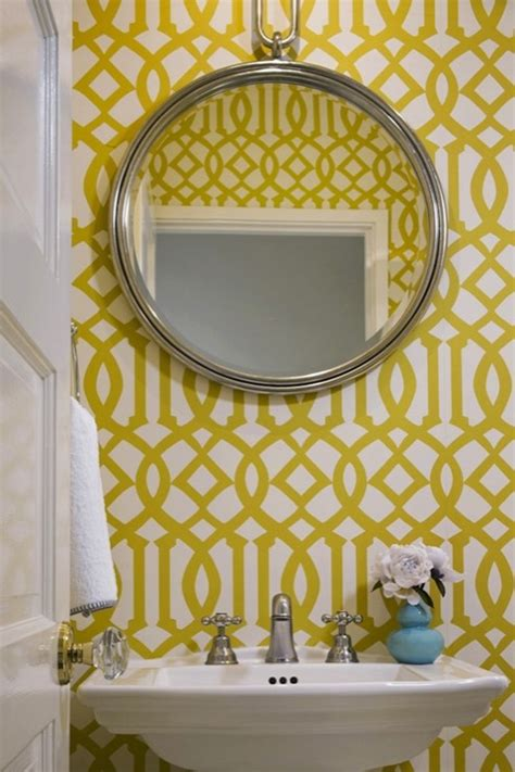 kelly wearstler wallpaper contemporary bathroom jute