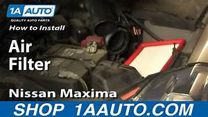 How To Replace Engine Air Filter 04-08 Nissan Maxima