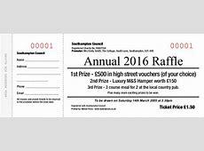 Raffle Tickets Template Projet52com