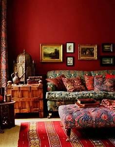 Rotes Sofa Welche Wandfarbe : am nager la maison dans la gamme de la couleur carmin ~ Bigdaddyawards.com Haus und Dekorationen