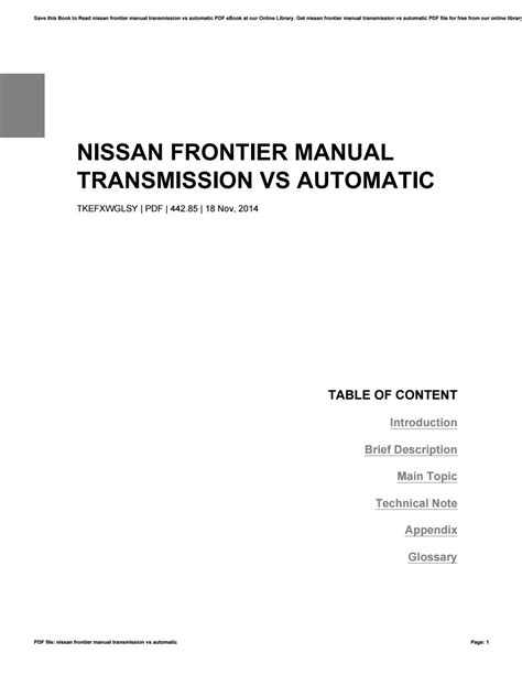 Nissan Frontier Manual Transmission ~ Perfect Nissan