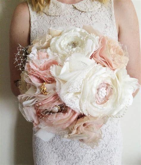 shabby chic wedding bouquet fabric bouquet fabric flower bouquet vintage inspired fabric bouquet shabby chic fabric