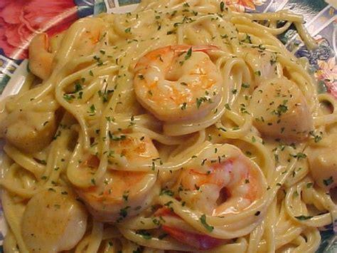 recette boursin cuisine linguines sauce cremeuse aux crevettes petoncles
