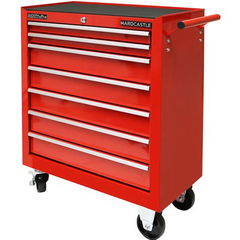 7 drawer rolling tool cabinet red metal 7 drawer lockable tool chest box storage roller