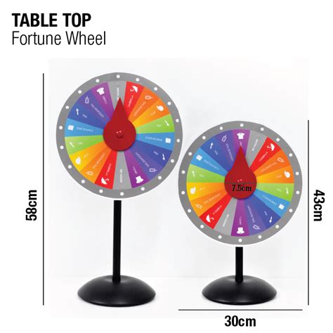 display easel fortune wheel stand millioncolour display advertising