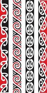 Four seamless Maori Kowhaiwhai patterns. | Stock Vector ...