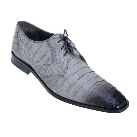 Los Altos Caiman Belly Derby Shoes Faded Gray