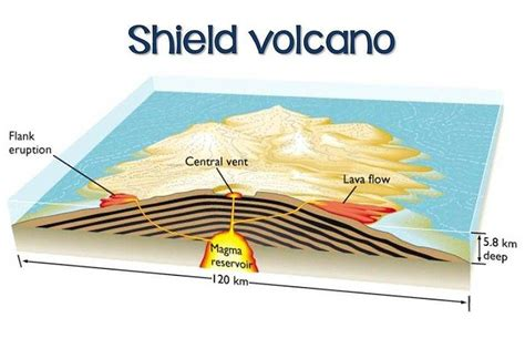Diagram Shield Volcano School