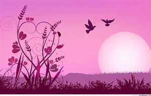 Pink Love Background ·①