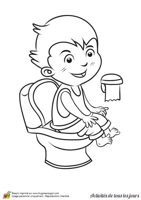 coloriage activit 233 s de tous les jours aller aux toilettes