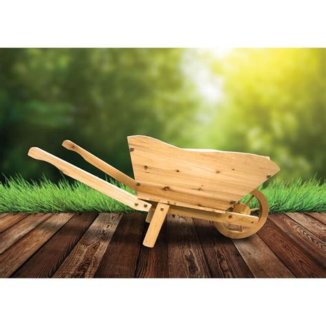 wooden wheelbarrow buy   qd stores