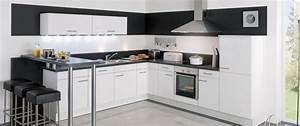 Cuisine equipee jena blanc idee de decoration aviva for Idee deco cuisine avec cuisine tout Équipée prix