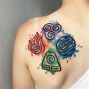 Tatouage 4 éléments : the four elements tatt atla pinteres ~ Nature-et-papiers.com Idées de Décoration