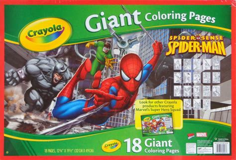 Spider-man 18 Giant Coloring Pages (crayola) [in Comics