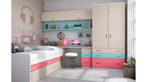 chambre ado complete chambre ado fille avec lit gigogne colorée