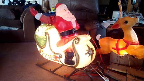 santa  sleigh empire blowmoldrare animated turns