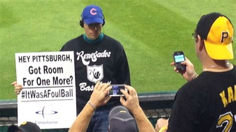 Wildcard Standings Nfl by Nl Wild Card Game Steve Bartman Shows Up At Pnc Park