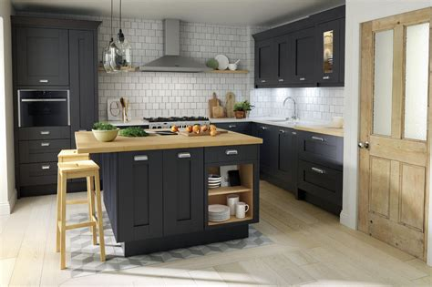 buy kitchen island shaker milbourne door in a bold charcoal