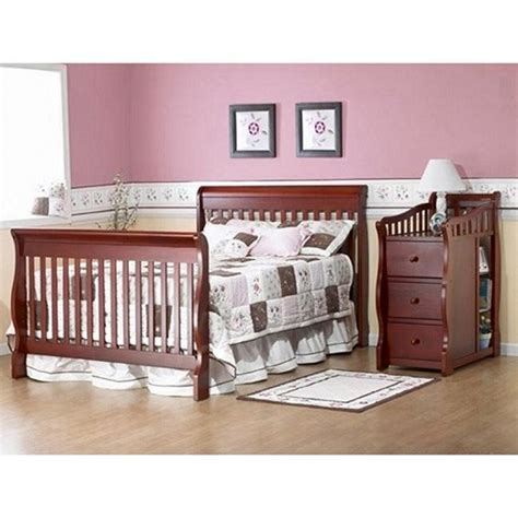 crib and changing table sorelle tuscany 4 in 1 convertible fixed side crib and