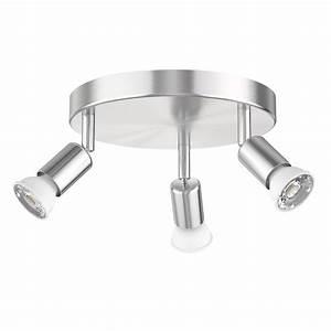 Gu 10 Lampen : deckenleuchte lunara dreiflammig inkl 320lm led gu10 lampen wei von ~ Markanthonyermac.com Haus und Dekorationen