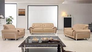 lovely beige contemporary half leather sofa set los With modern italian design sectional sofa beige