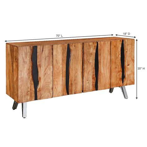 Acacia Sideboard by Saturn Acacia Wood 4 Door Large Sideboard Cabinet