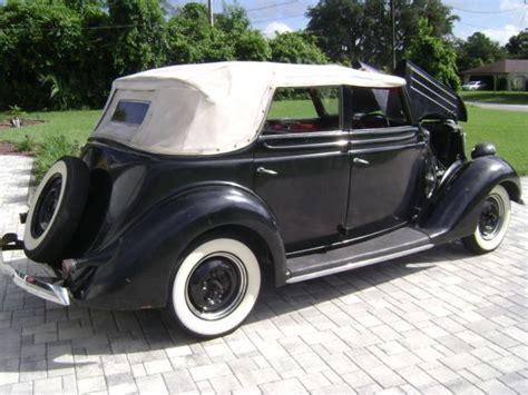 1936 Ford Deluxe Convertible Sedan 4 Door Model 68-740